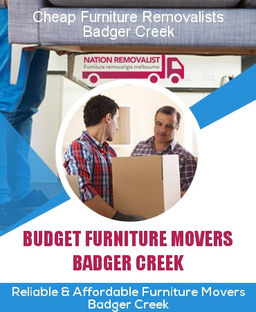Cheap Furniture Removalists Badger Creek
