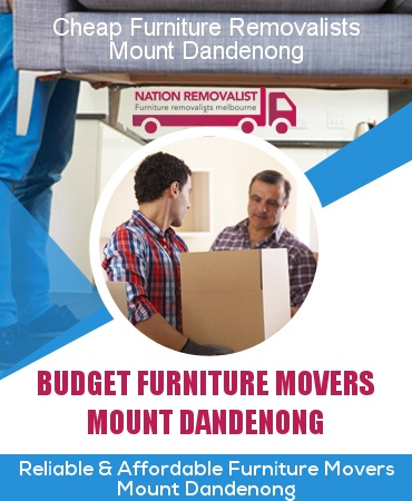 Cheap Furniture Removalists Mount Dandenong